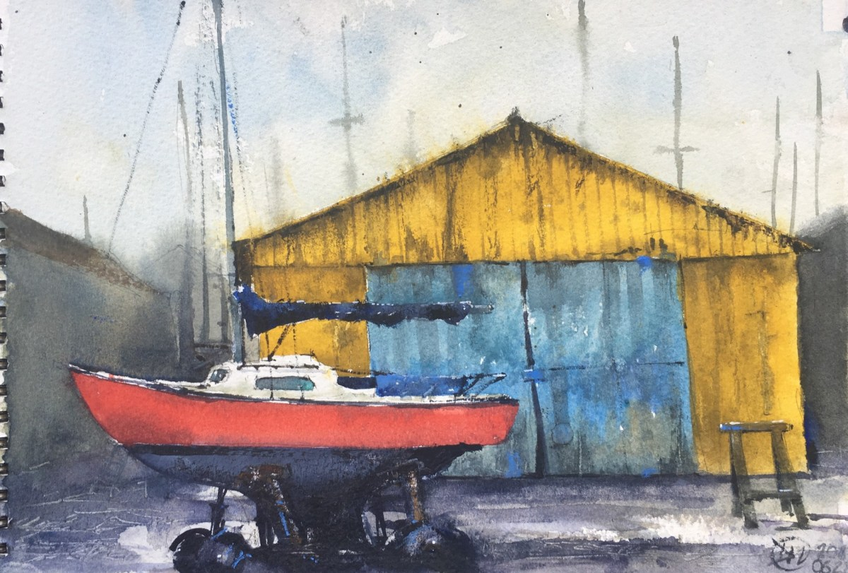 My last watercolour of Paimpol