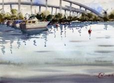 The original plein air sketch