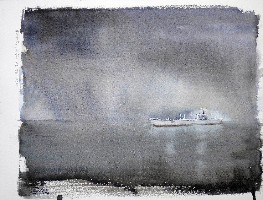 Winter Sea 1980 - Meldrum Art