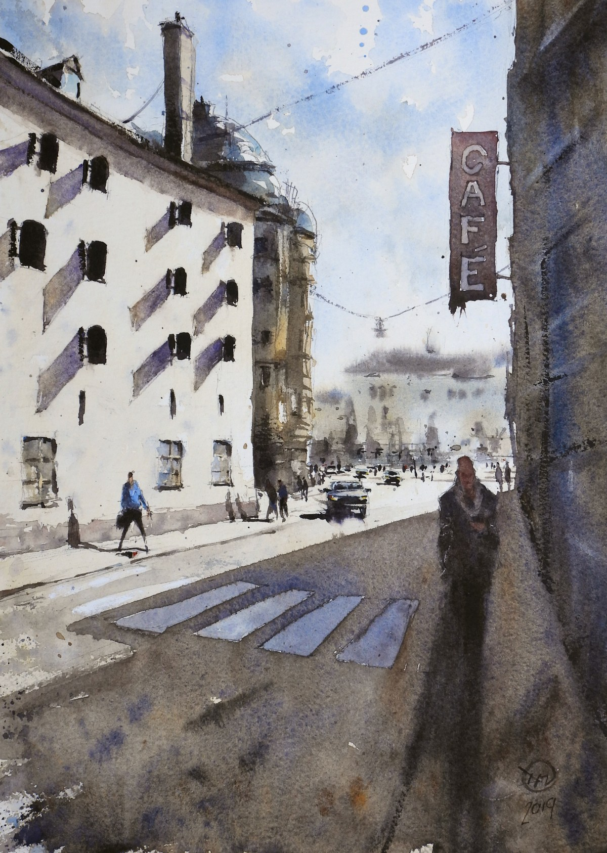 Final painting of Stockholm street