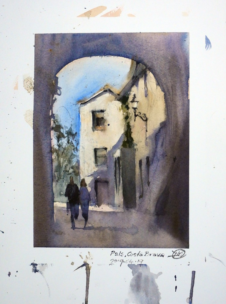 A sketch from the medieval town of Pals