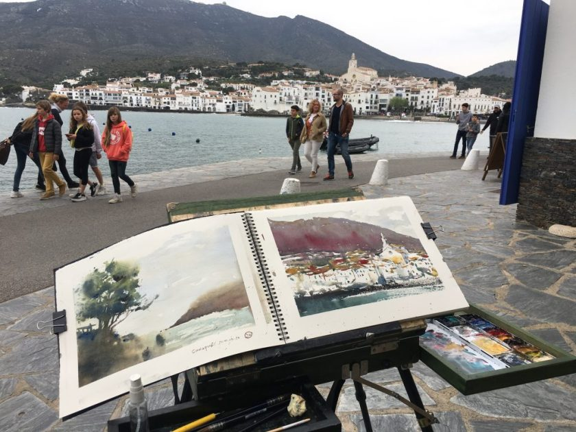 Watercolours from Cadaqués