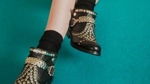 Zapatos negro turquesa