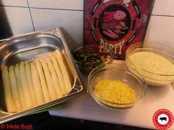 Witte asperge quiche