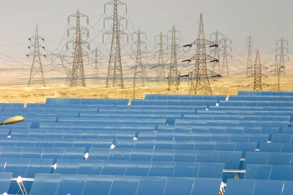 Placas solares del proyecto Desertec