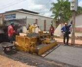 Obra do asfalto em parceria com o Governo do Estado!