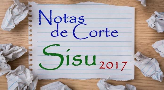 Notas de corte parciais do Sisu 2017-2