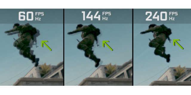 Diferenças na taxa de atualização no jogo CS:GO