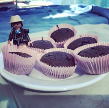 Muffins am Pool