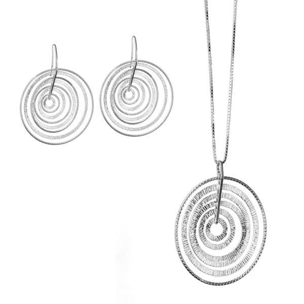 Argento 925 Collana orecchini  Madì  Diamond Collection