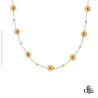 collana donna argento 925 dorato Stella satinato Diva Gioielli made in italy