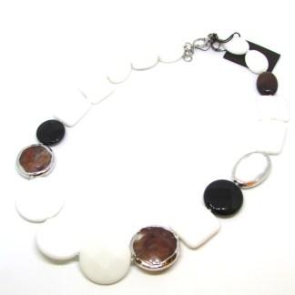 Collana donna pietre dure e argento Della Rovere Gioielli