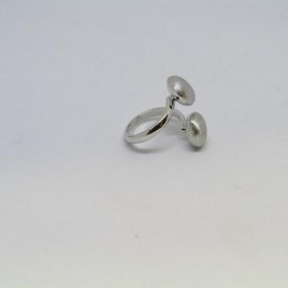 anello donna argento 925 Luce rodiato satinato Diva Gioielli made in italy