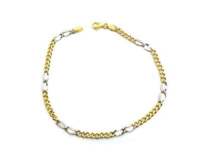 Bracciale in oro giallo e oro bianco