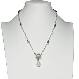 Collana donna argento e perle di acqua dolce Kikilia Fashion