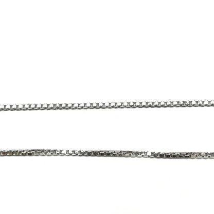 catena donna argento maglia veneziana