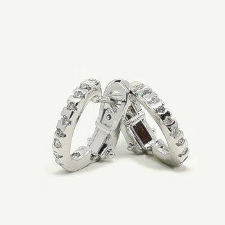 Orecchini donna Campanelle in Oro bianco e Diamanti
