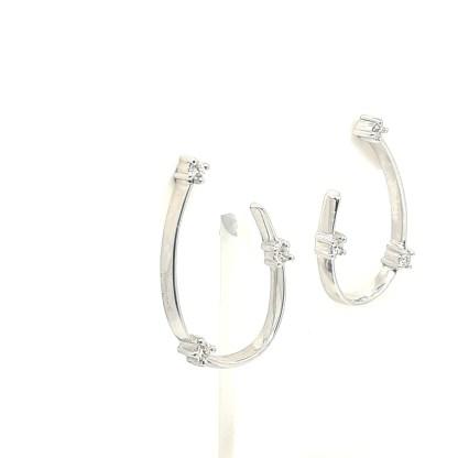 Orecchini donna in Oro bianco con Diamanti Gianni Carità