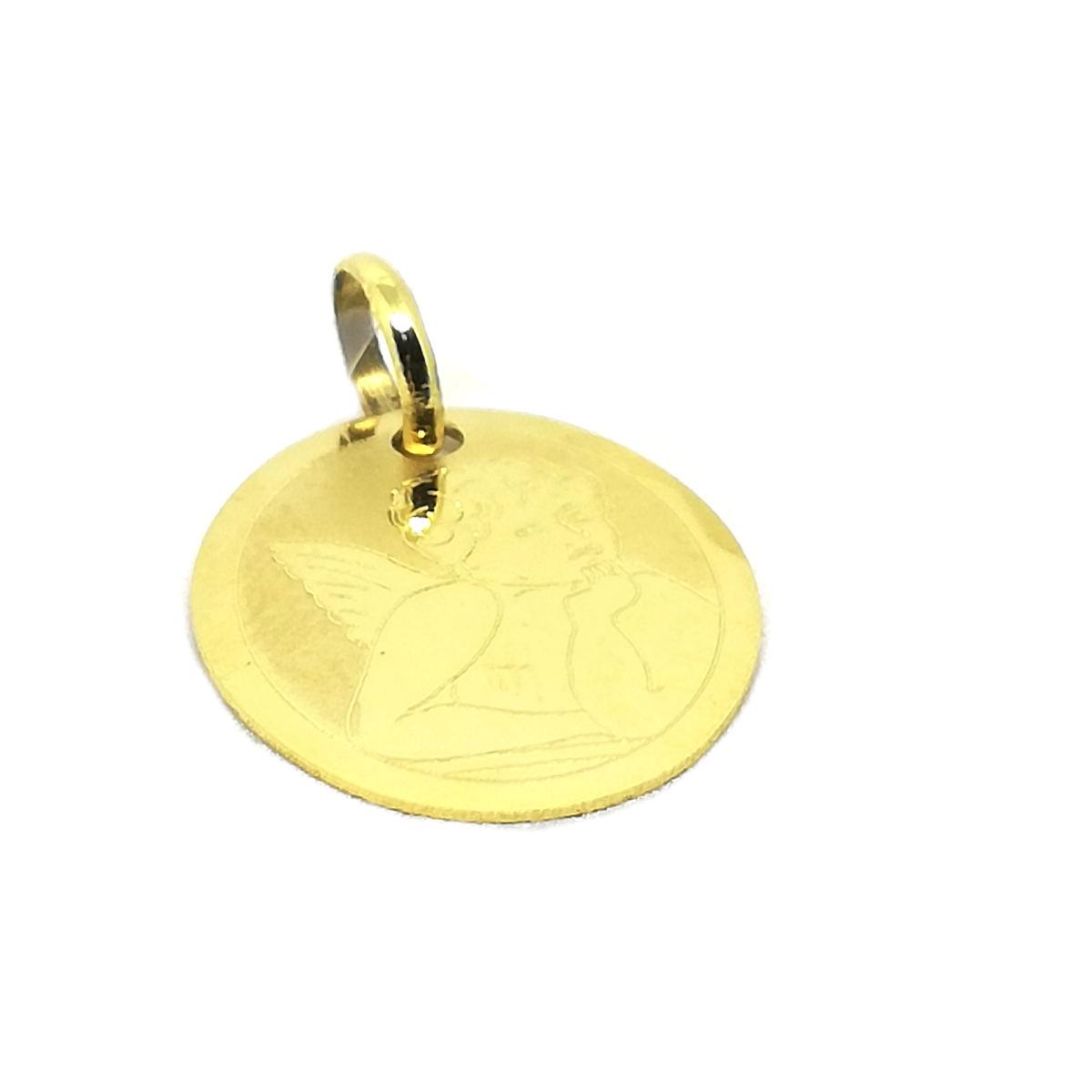 Ciondolo in Oro giallo Angelo Pensatore