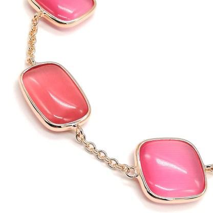 Bracciale donna argento rosè e pietre dure Laguna di Madì Gioielli