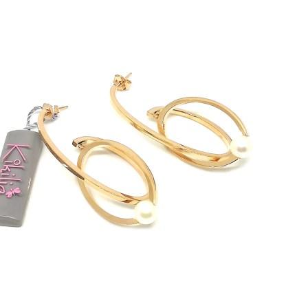 Orecchini in Argento e Perle di Acqua dolce Kikilia Fashion