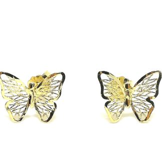 Orecchini donna in Oro giallo Farfalla