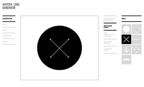 hipster logo generator ile logo tasarlama