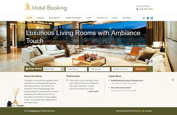 Hotel Booking App Theme – Templatic