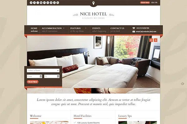 Nice Hotel WordPress Themes – ThemeForest
