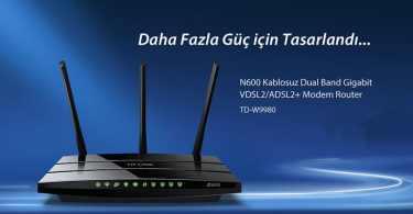 TP-LINK TD-W9980 N600 Kablosuz Dual Band Gigabit VDSL2/ADSL2+ Modem Router