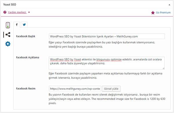 Wordpress SEO Yoast Eklentisinin Sosyal Medya Ayarları