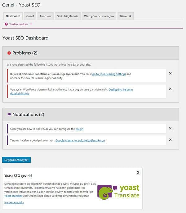Wordpress Yoast SEO Eklentisinin Kurulum Ayarları