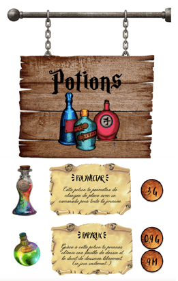 boutiques de potions