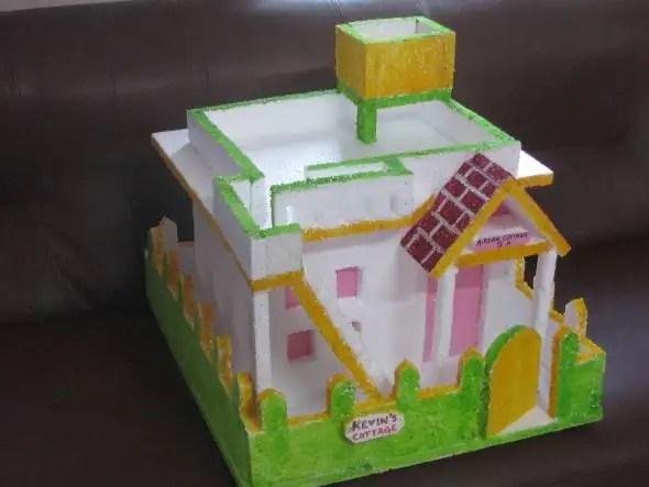 Model of kutcha house