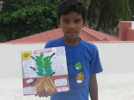 Kevin Curtis with his Photosynthesis Project