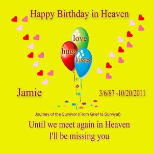 Jamie Birthday Card