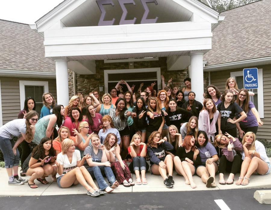 Sorority Recruitment Coach Melissa Chataigne work with Tri-Sigma Sorority