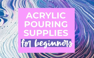 Acrylic pouring supplies for beginners
