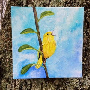 Yellow Warbler 10x10 Painting
