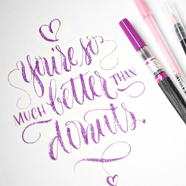 Valentine brush calligraphy workshop i still love you by