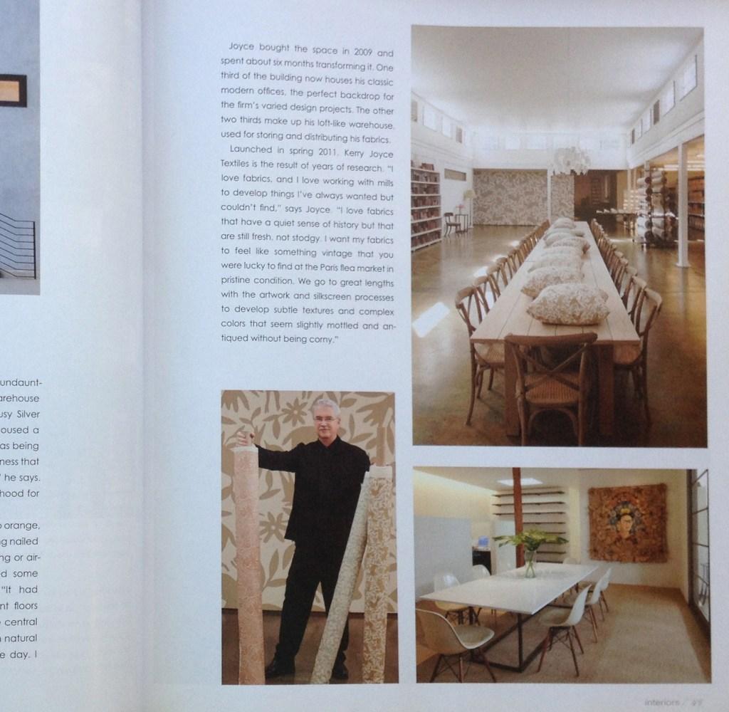 Interiors Magazine feature of Kerry Joyce Studios and Frida Kahlo Installation