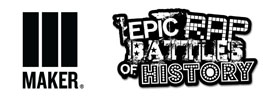 Maker Studio and Epic Rap Battles of History Logos