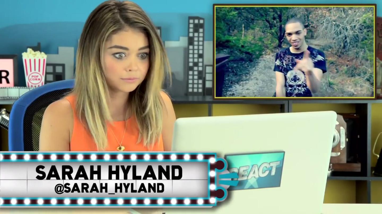 sarah-hyland-melissa-judson-production-design-fine-brothers-celebrities-react