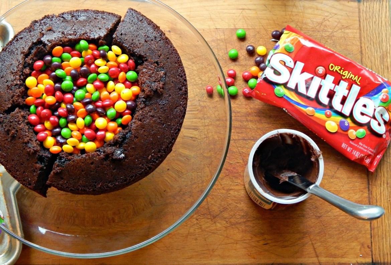 #BigGameTreats #ad #cbias Chocolate Football Pinata Cake