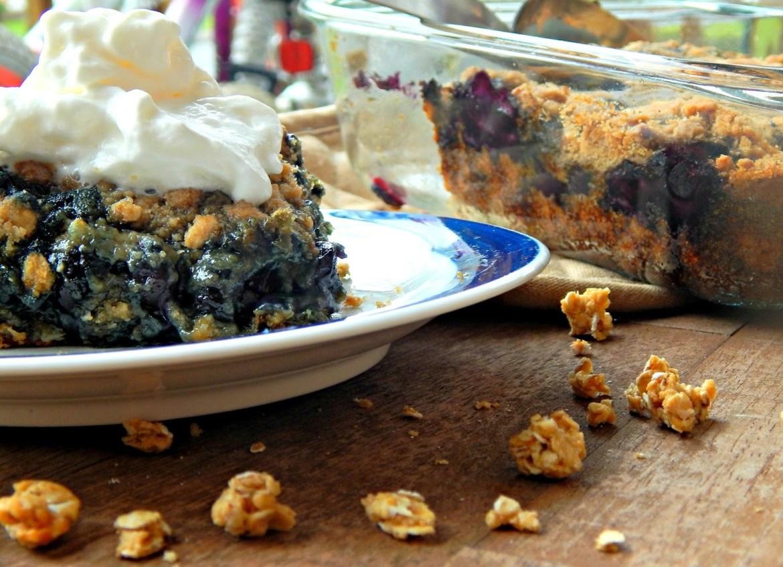 Blueberry Torte Recipe #QuakerUp #LoveMyCereal #spon #collectivebias