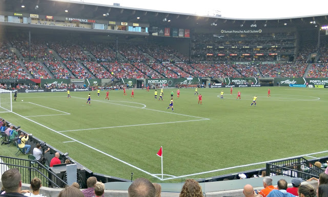 Photos from a Portland Thorns Game via @melissakaylene