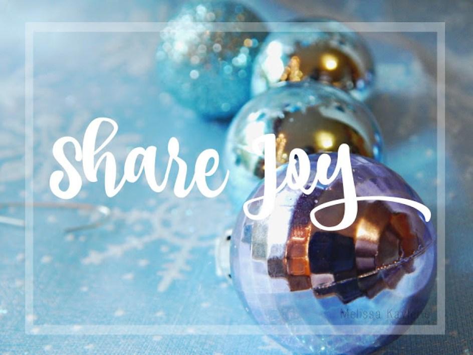4 ways to share joy