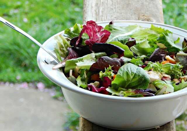 Roasted Chicken, Butternut Squash, & Cranberry Salad Recipe #hellonutchello #AD
