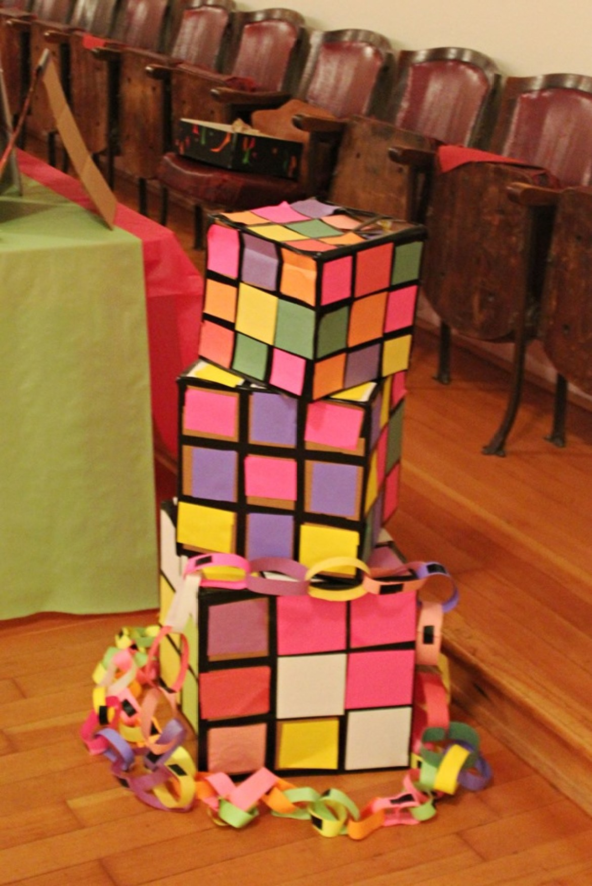DIY Rubik Cubes for a 1980's Party