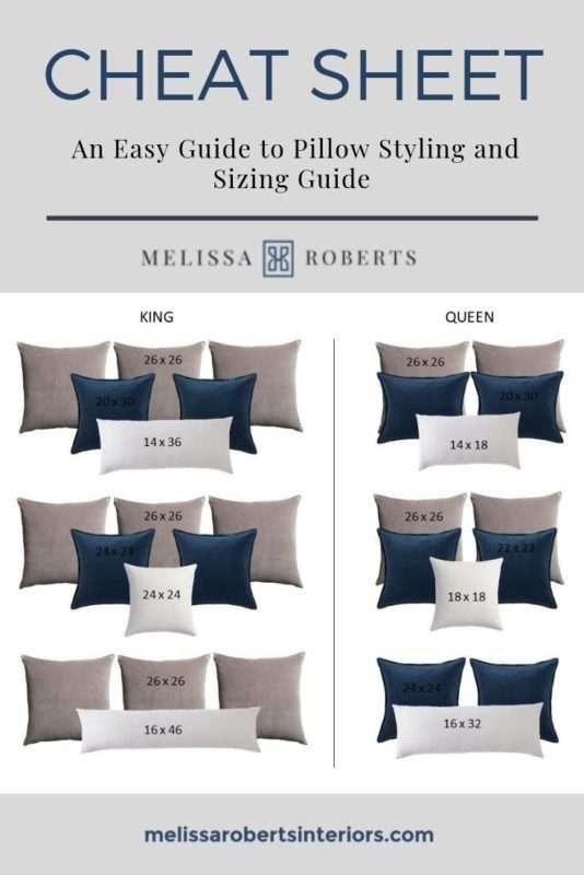 للبحث عن ملجأ زميل مبكر pillow sizes chart